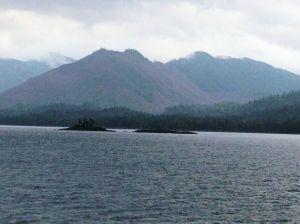 view from deck near Wrangell