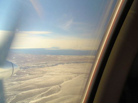 Norton Sound from plane